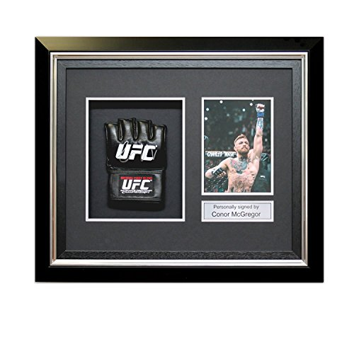 Conor McGregor Signed UFC Glove In Deluxe Black Frame With Silver Inlay – DiZiSports Store