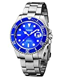 Fanmis Blue Dial Ceramic Bezel Luminous Mark Submariner Automatic Mechanical Men's Women's Silver Watch