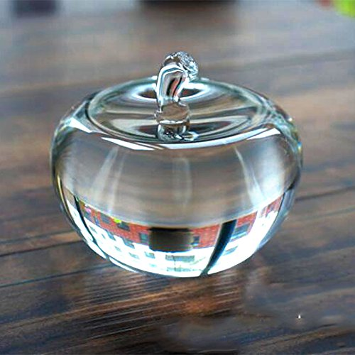Crystal Apple Paperweight Pretty Craft Art & Collection Gifts Christmas Home Decoration Wedding Table by qianyue