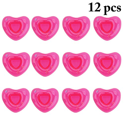 - Outgeek Inflatable Drink Holder Cute Cup Holder for Pool Float Drink Coaster Love Heart Shaped Pool Party Supplies Pool Coaster Float Coaster Kids Bath Toy 12PCS