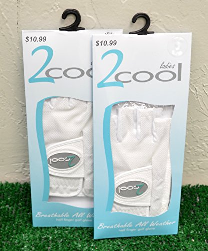 2 cool 2 Ladies Breathable Half Finger Golf Gloves - Ladies Right Hand Small