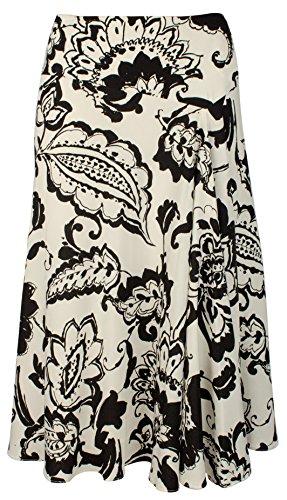 (Lauren Ralph Lauren Women's Paisley-Print Crepe Skirt-PB-12 Pearl/Black)