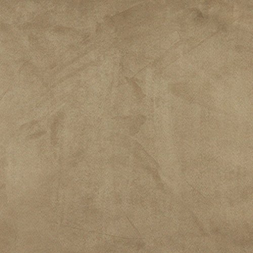(C061 Beige Solid Microsuede Microfiber Suede Ultra Durable Upholstery Grade Fabric by The Yard)