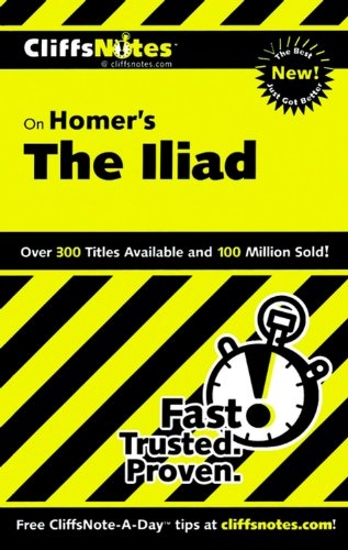 CliffsNotes on Homer's Iliad (Cliffsnotes Literature Guides) by Brand: Cliffs Notes