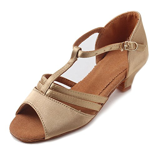 Shoes Ballroom YKXLM Dance Beige Latin Performance Model UKXGG Salsa Women's Standard Shoes qFSwx8Oq
