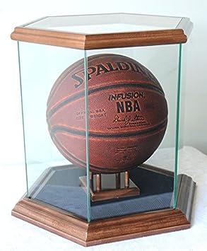 Hexagon cristal vitrina para pelota de baloncesto, balón de fútbol ...