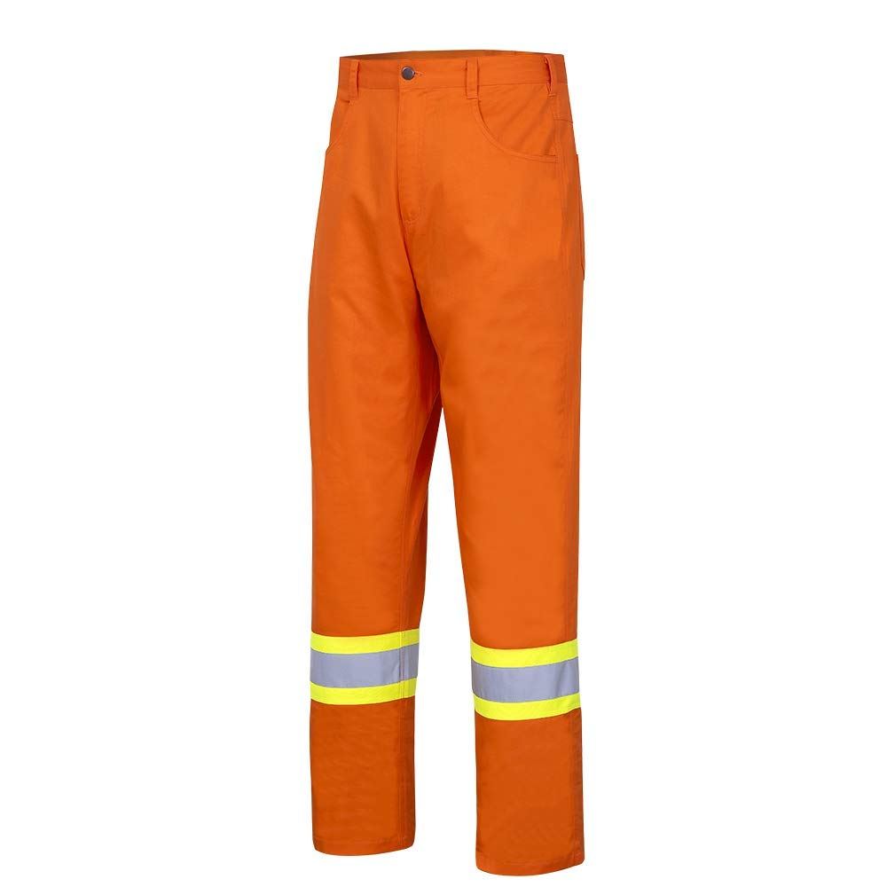 Ultra-Cool Pioneer CSA 100/% Cotton Lightweight High Visibility Work Safety Pants 32x34 Orange V2120610-32x34