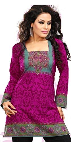 BombayFashions Indian Tunic Top Womens Kurti Printed Blouse India Clothing - 70 Designs!
