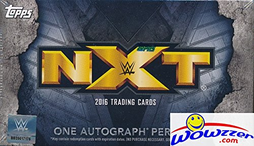 2016 Topps WWE Wrestling NXT EXCLUSIVE Factory Sealed Box with AUTOGRAPH! Look for Autographs of Bayley, Liv Morgan, Shinsuke Nakamura, Bliss, Aliyah, Scott Dawson, Asuka, Dash Wilder & Many More! Wowzzer