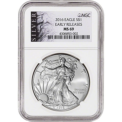 Ngc Certified Ms69 Early Release - 2016 American Silver Eagle (1 oz) Early Releases ALS Label $1 MS69 NGC