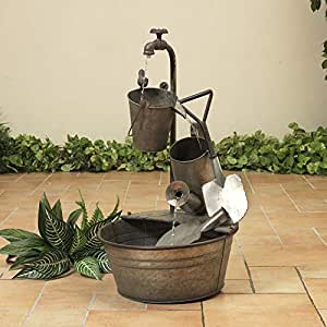"Amazon.com: GIL 2390180 28.35"" Electric Water Fountain"