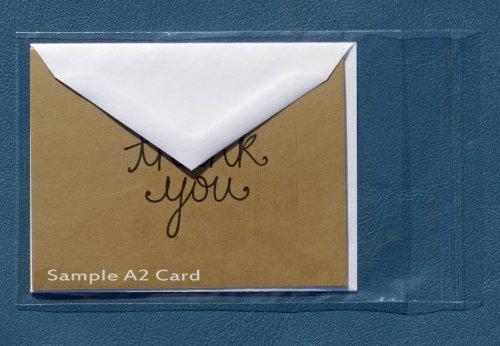 (- 100 - Clear Resealable A2 / A6 Card Envelopes Polypropylene Cello Bags 4 3/4
