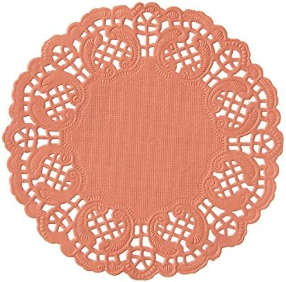 Darice Coral Paper Doilies, 50 Piece