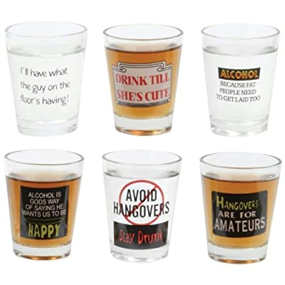 MaxamTM 6pc Shot Glass Set