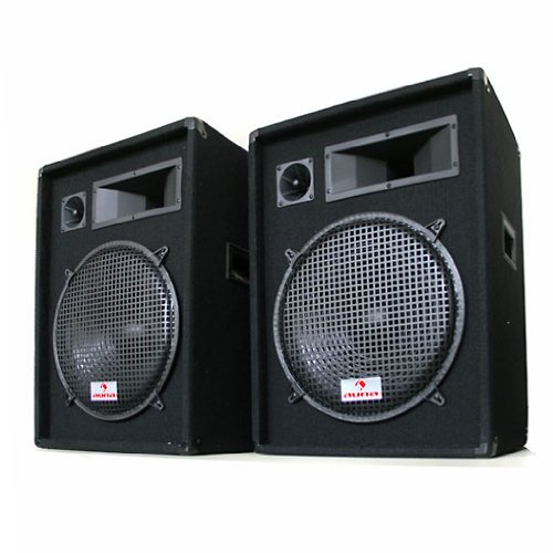 Auna Sonido Profesional DJ Pareja de Altavoces de 3 vías 38cm 1600W
