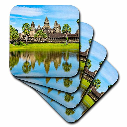 3dRose Danita Delimont - Travel - Landscape of Angkor Wat, Angkor, Cambodia - set of 8 Coasters - Soft (cst_277061_2)