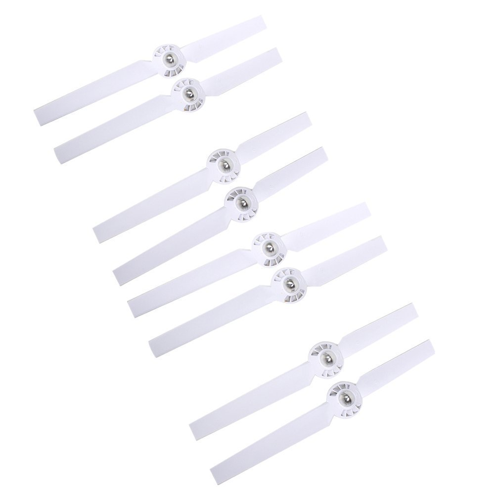 Hooshion 4 Pairs Weiß Propellers Rotor Blade Sets A & B for YUNEEC Typhoon G Q500 Q500+ Q500 4K RC Air Force Airplane Helicopter Propeller Quadcopter Drone (Weiß)