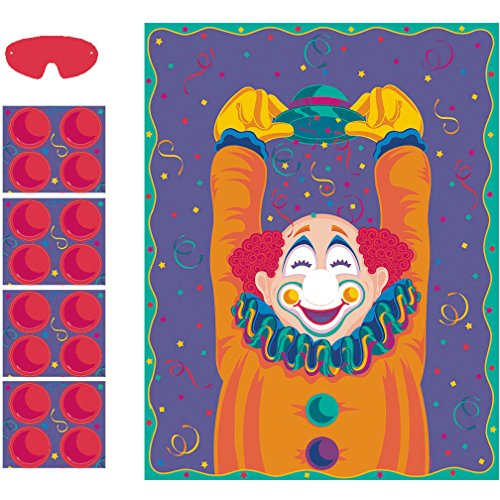 Pin the Nose on the Clown Party Game | Game Collection | Party Accessory -