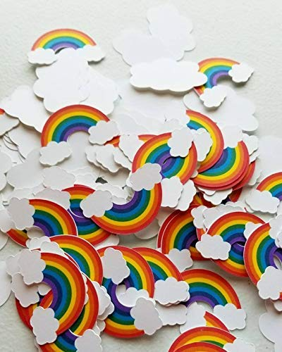 Rainbow Birthday Party Supplies/Rainbow Confetti / 100 Count/Rainbow Baby ()