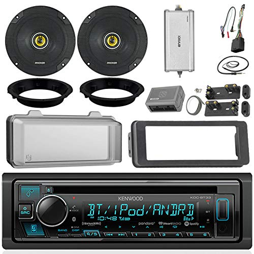 Kenwood KDCBT32 CD Receiver Bundle/2 Kicker 6.5