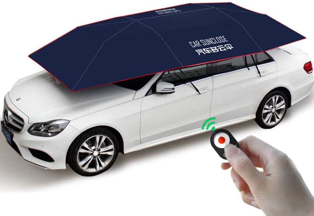 r/ésistant au Vent /à la Neige imperm/éable /à la temp/ête Bleu Pare-Soleil Pliable Portable 4 m x 2,1 m avec Anti-UV FBSPORT Tente de Voiture Automatique pour Voiture Parapluie Pliable