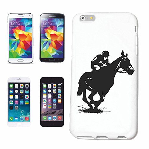 "cas de téléphone iPhone 7+ Plus ""SILHOUETTE EQUITATION RIDER ÉQUESTRE DRESSAGE HORSE HEAD RIDING RODEO COWBOY JUMPING HORSE STALLION PONY"" Hard Case Cover Téléphone Covers Smart Cover pour Apple iPhon"