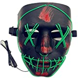 Best El Wires - TGHCP-Halloween Light Up Glowing Mask Led Scary Mask Review