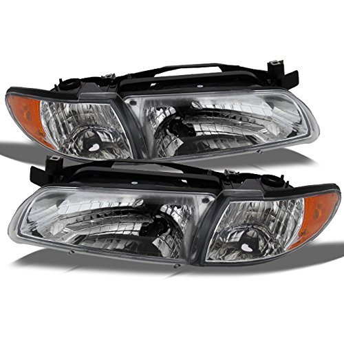 (For Pontiac Grand Prix OE Replacement Headlights w/Amber Corner Signal Lights Driver/Passenger Combo)