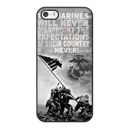 Coque,Apple Coque iphone 5/5S/SE Case Coque, Generic Battle Of Iwo Jima Cover Case Cover for Coque iphone 5 5S SE Noir Hard Plastic Phone Case Cover