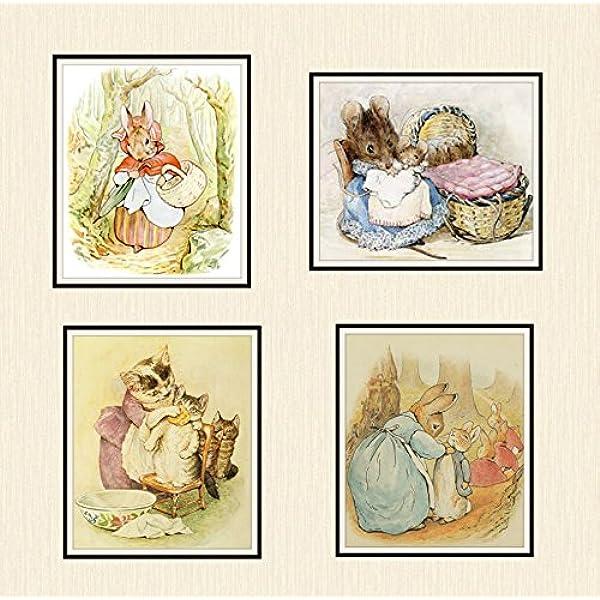 peter rabbit  glossy Print poster picture a4 paint splat nursery UNFRAMED 11