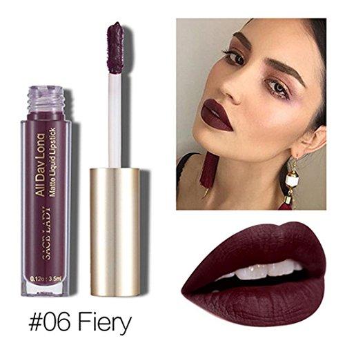 (Fheaven (TM) 6 Colors Available Non-stained Lip Glaze Waterproof Lipstick Matte Lipstick Rich Vitamin E Moisturizing Lipstick)