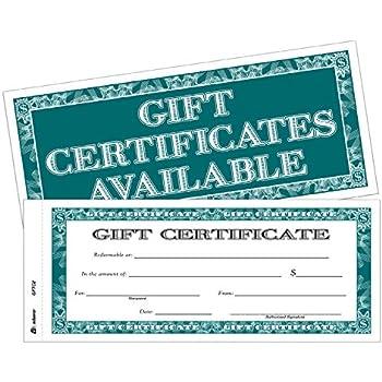 amazoncom adams gift certificate book carbonless