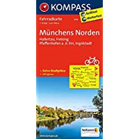Münchens Norden, Hallertau, Freising, Pfaffenhofen a. d. Ilm, Ingolstadt: Fahrradkarte. GPS-genau. 1:70000 (KOMPASS-Fahrradkarten Deutschland, Band 3114)
