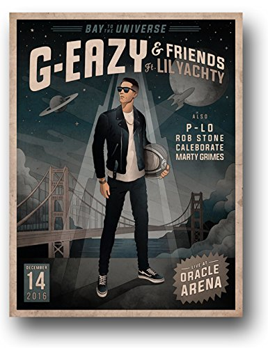 Amazon com: G-Eazy Poster - Concert Promo 11 x 14 inches Bay to the