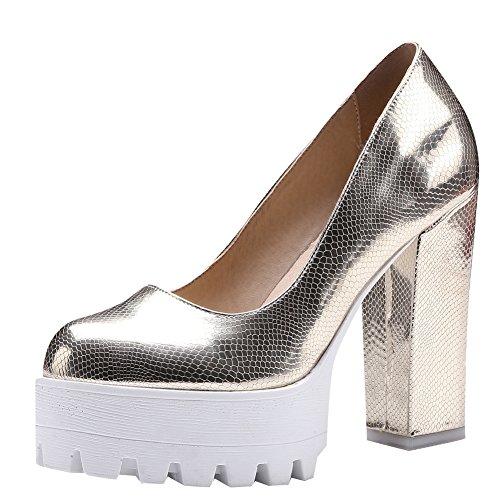 Platform Party Womens Evening Dress Heels Carolbar High Pumps Gold Shoes qtAwvEEd