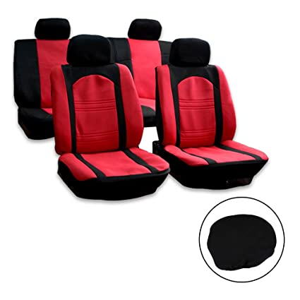 Marvelous Amazon Com Lujuntec Universal Seat Cover Full Set Pabps2019 Chair Design Images Pabps2019Com