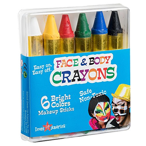 Dress Up America Face Paint 6 Color Crayon - Color Face Pain