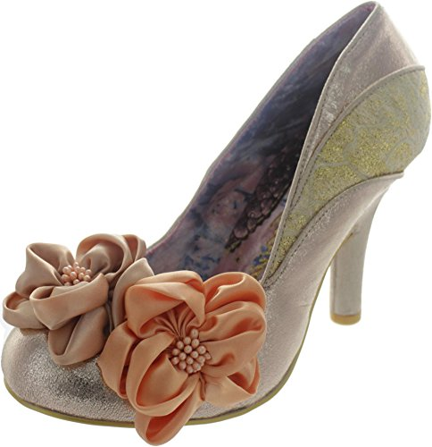 Gold Choice Womens Irregular Metallic Rose Heels Peach Melba YIxYRdwzq