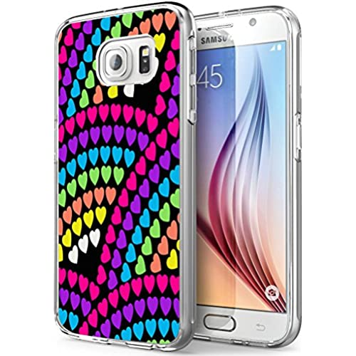 S7 Active Hears,Gifun Soft Clear TPU [Anti-Slide] and [Drop Protection] Protective Case Cover for Samsung Galaxy S7 Active W Colorful Hearts Sales