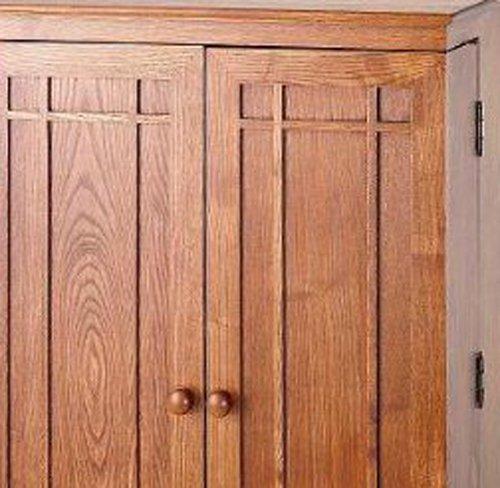 Mission Style Kitchen Cabinet Doors: Leslie Dame CD-612D Solid Oak Multimedia Storage Cabinet