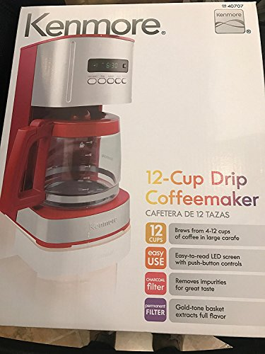 Kenmore Red Programmable Coffee Maker