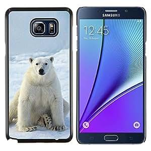 """Be-Star Único Patrón Plástico Duro Fundas Cover Cubre Hard Case Cover Para Samsung Galaxy Note5 / N920 ( Oso polar blanco como la nieve del hielo ártico animal"""" )"""