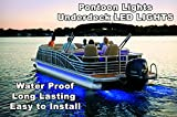 NEW 22'-26' PONTOON BOAT UNDER DECK LED LIGHTS INCLUDES HARNESS & MOUNTING TRACK