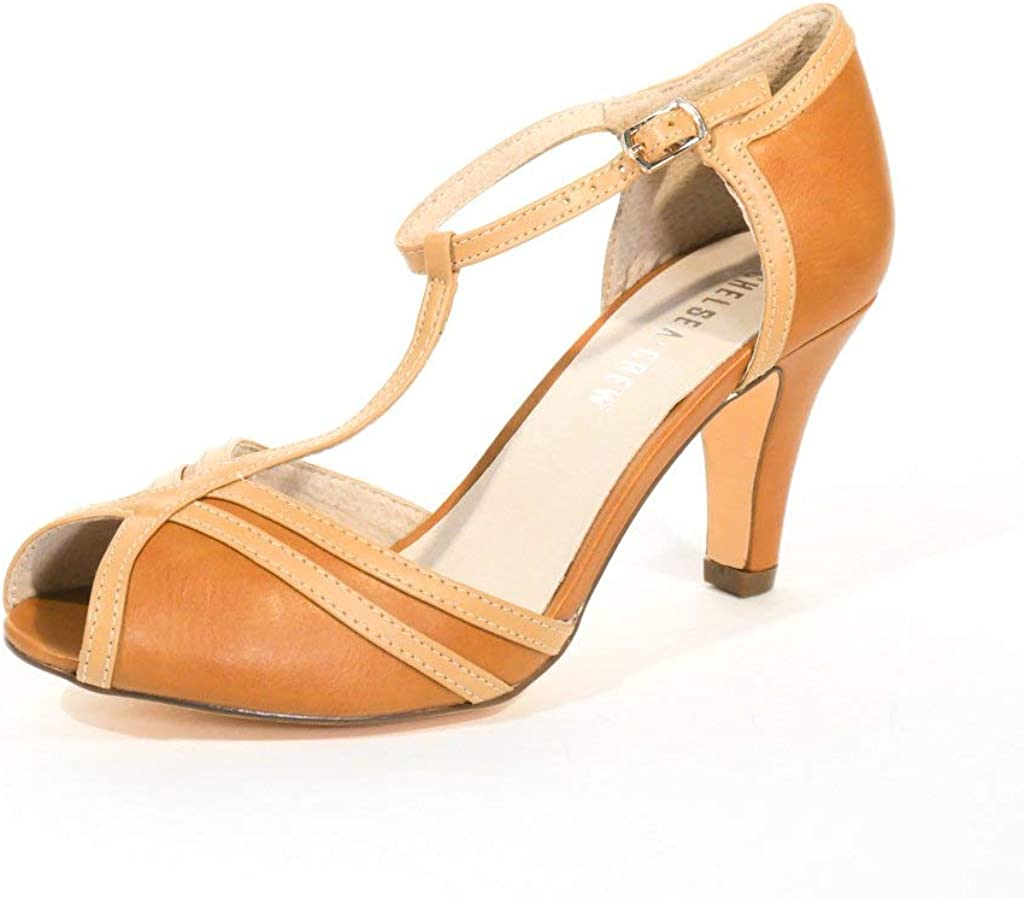 1950s Style Shoes | Heels, Flats, Boots Chelsea Crew Lester Womens T-Strap Heels $69.99 AT vintagedancer.com