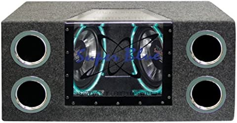 Pyramid BNPS102 10-Inch 1,000-Watt Dual-Bandpass System with Neon Accent Lighting (Car Subwoofers)