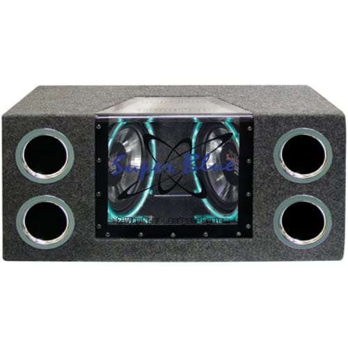 Image of 1000W Dual Bandpass Speaker System - Car Audio Subwoofer w/ Neon Accent Lighting, Plexi-Glass Front Window w/ 4 Tuned Ports, Silver Polypropylene Cone & Rubber Edge Suspension - Pyramid BNPS102 Ceiling & In-Wall Speakers