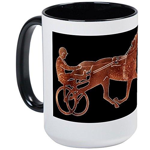 CafePress Browntrotterblackbgd Large Mug Coffee Mug, Large 15 oz. White Coffee -