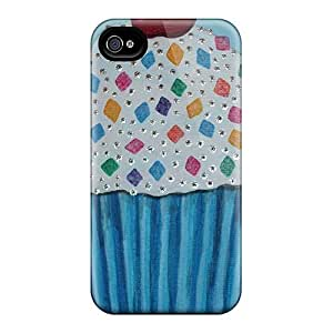 Protective Tpu Case With Fashion Design For Iphone 4/4s (blue Cupcake)