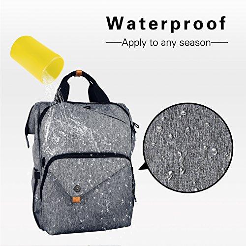 Hap Tim Laptop Backpack 15.6/14/13.3 Inch Laptop Bag Travel Backpack for Women/Men Waterproof School Computer Bag Large Capacity Bookbag for College/Travel/Business (7651US-BG) by Hap Tim (Image #5)