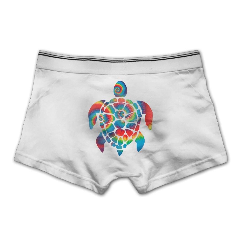 Ngyeyu Tie Dye Turtle Mens Underwear Cotton Vintage Boxer Briefs White